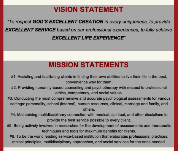 vision - mission ELF